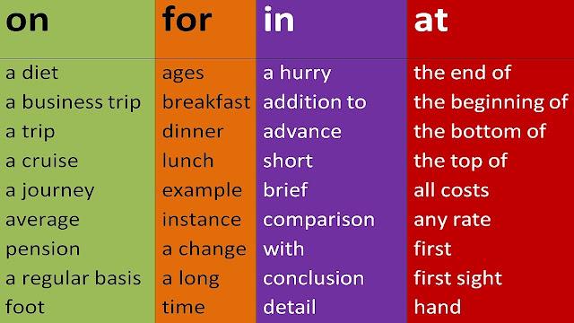 قائمة بالأفعال مع حروف الجر الاكثر استعمالا في اللغة الانجليزية