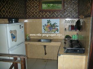 ruang untuk memasakdi villa ciater