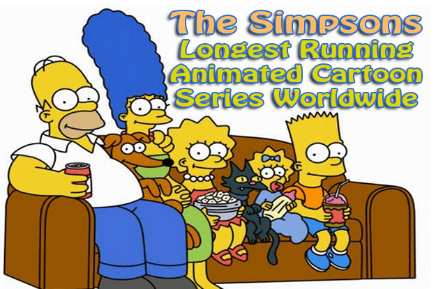 The Simpsons: Longest Running Animated Cartoon Series Worldwide