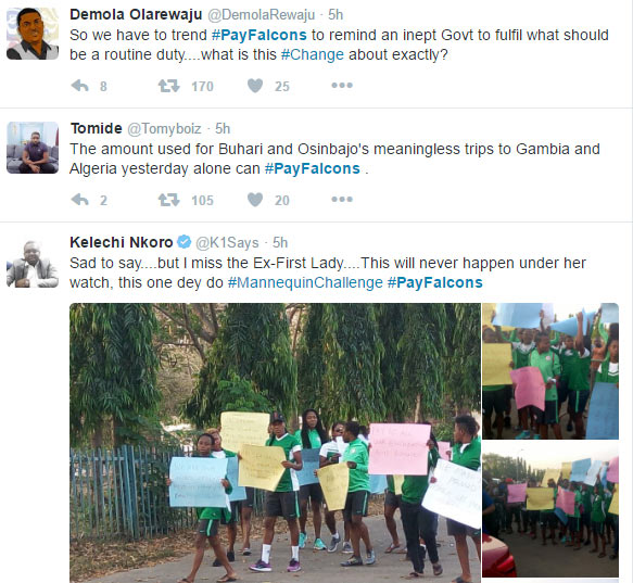 #PayFalcons trend on Twitter after female team fail to get allowances from Nigerian FG