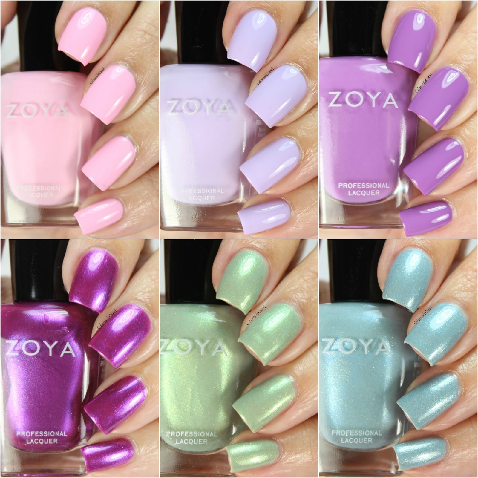 Colores de carol zoya charming collection spring 2017 hello today i have or you the new charming collection from zoya for spring 2017 this collection consists of six shades three cremes and three shimmers reheart Choice Image