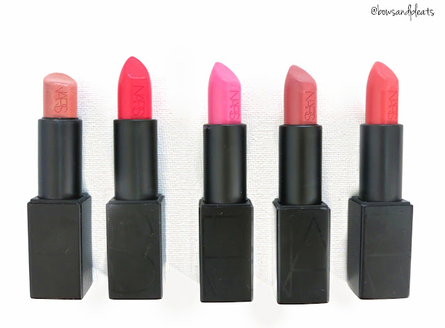 Nars Audacious Lipstick Collection Raquel Grace Claudia Anita Juliette Swatches