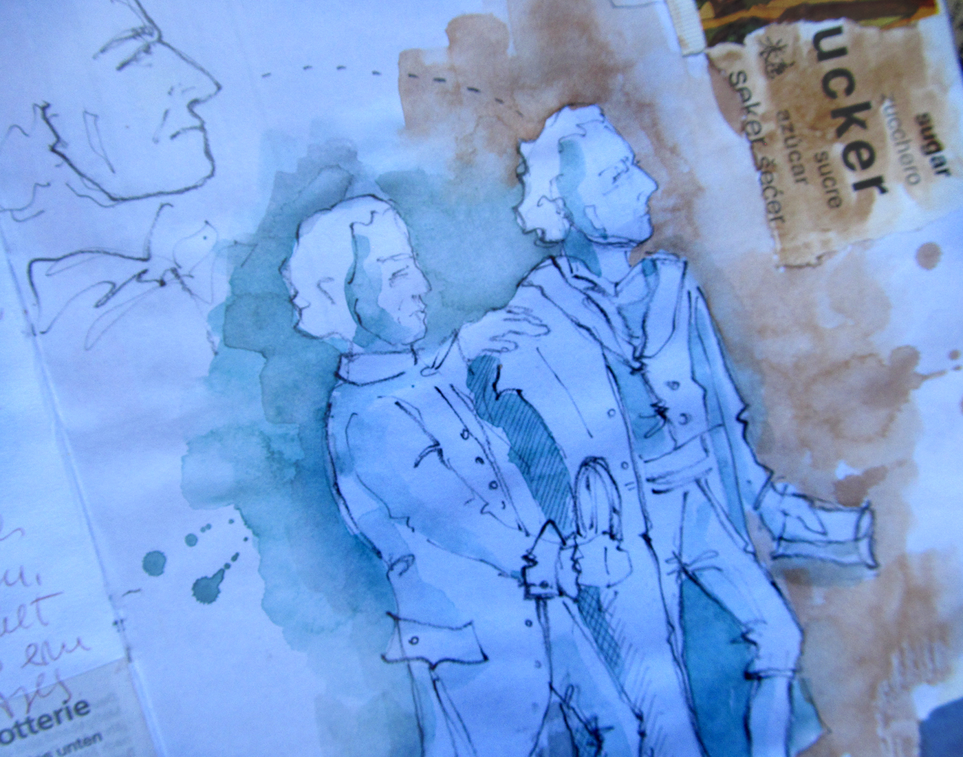 Weimar travel sketchbook Goethe Schiller