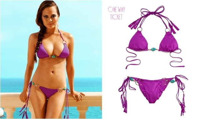 Beach Bunny one way ticket purple bikini