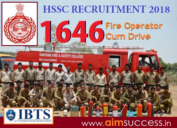 HSSC Recruitment 2018, 1646 Vacancy - Apply Now