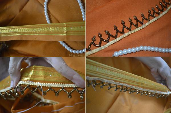 Stitching-ribbons-to-throne-+-Iskon-Krishna