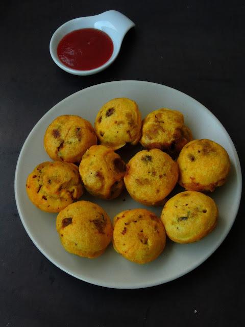 Mushroom Potato Batata Vada