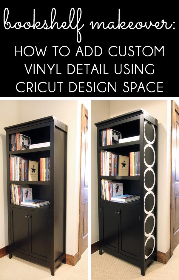 Bookshelf Makeover Cricut Design Space