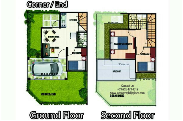 Floor Plan of Catherine - Lancaster New City Cavite | House and Lot for Sale Imus-General Trias Cavite