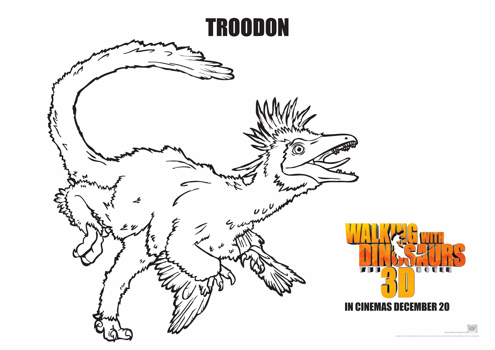 walking with dinosaurs coloring pages - photo #11