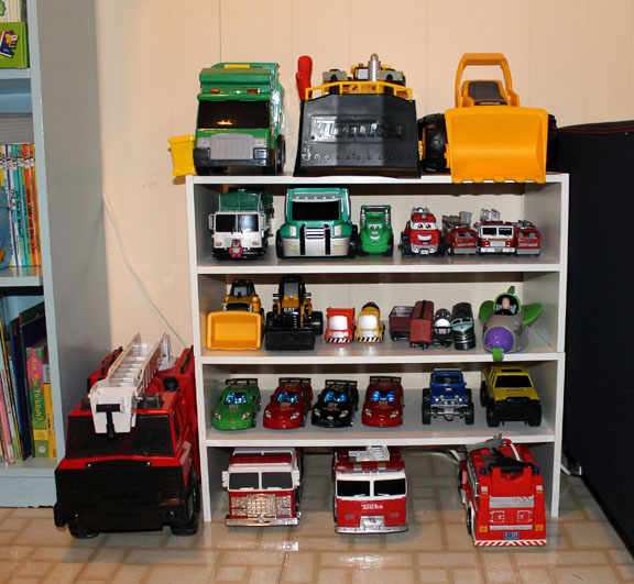 Family Love Home Toy Trucks Organized