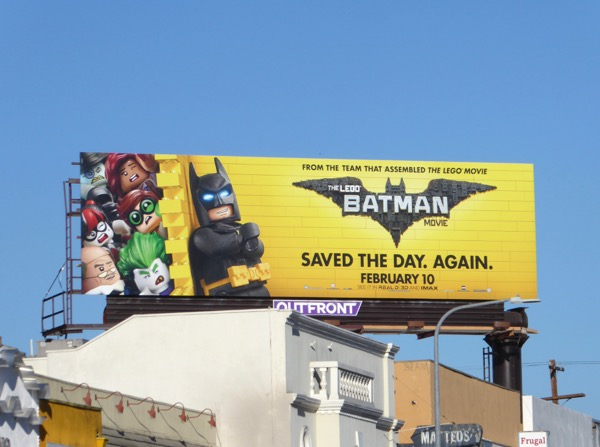 Lego Batman film billboard