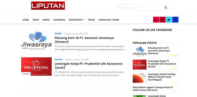 Liputan Theme V1 Responsive Blogger Templates