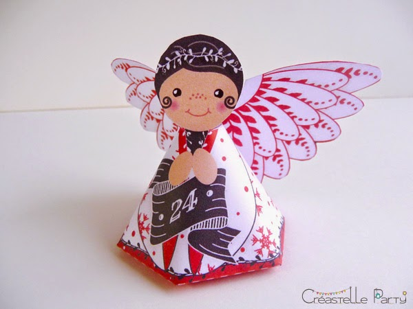 DIY calendrier de l'Avent anges - angel Advent calendar