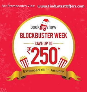 Get upto Rs. 250 discount in movie tickets bookmyshow