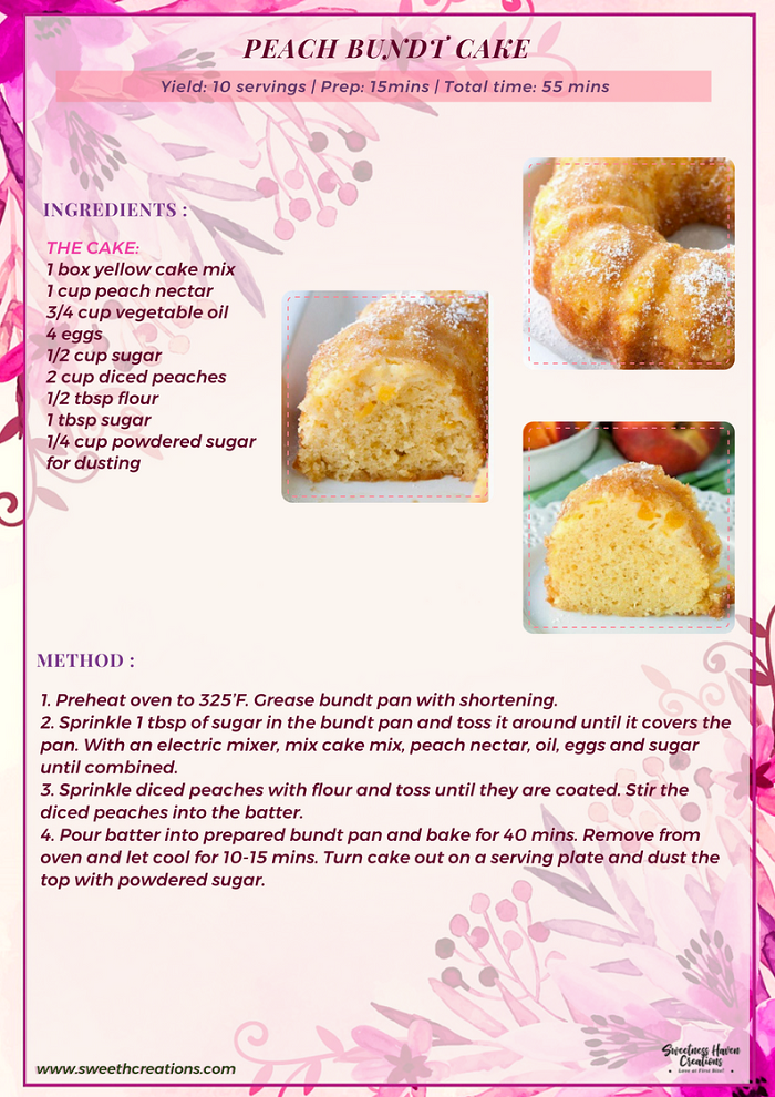 PEACH BUNDT CAKE RECIPE