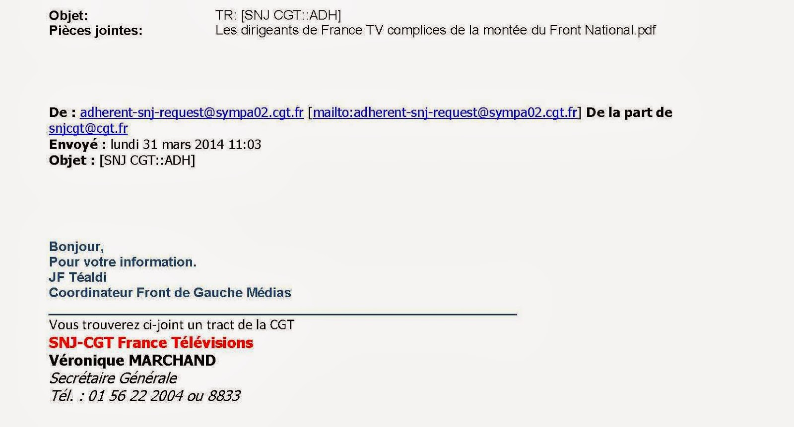 Le Blog CGC des Média: 30 mars 2014