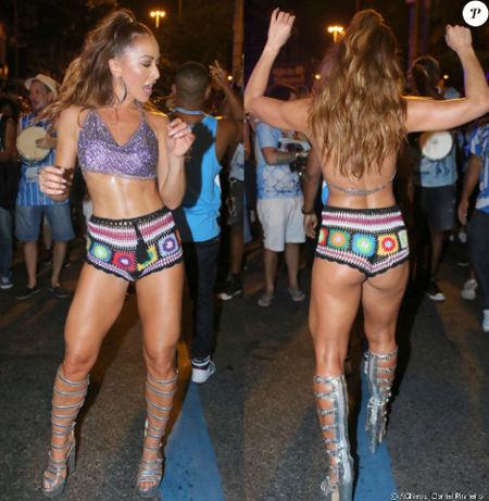 Look Crochê Short Sabrina Sato Carnaval