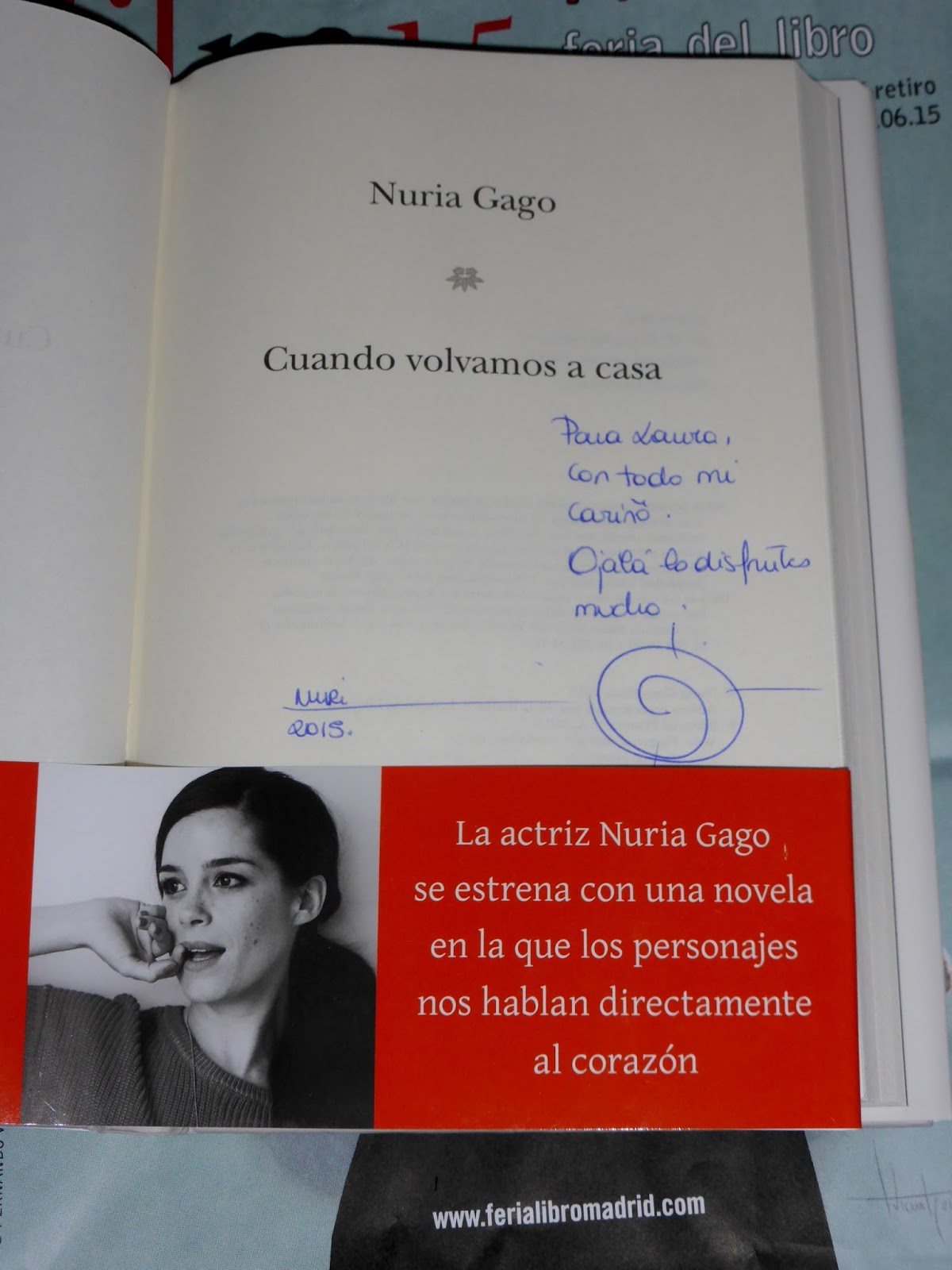 Libro Nuria Gago Walking On Air Agosto 2015