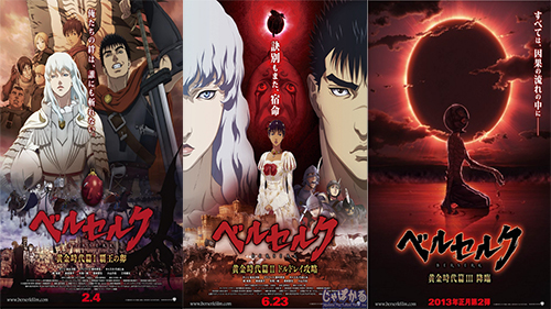 Berserk: The Golden Age Arc I, II e III Torrent - BDRip
