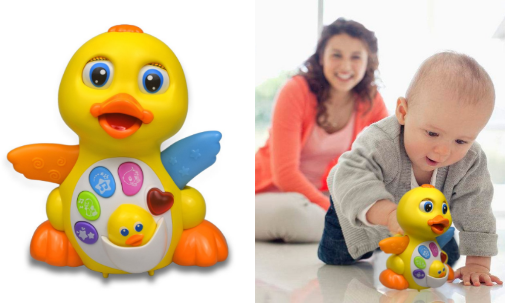 Rexun Yellow Dancing Duck Baby Toys Electronics Musical Toys Focus on Intelligence Study and Development Toys