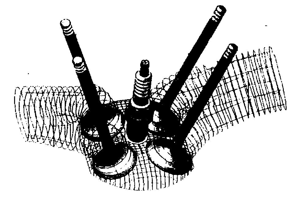 Four Valve Technologi : Mekanisme katup menggunakan multi valve (4 valve)