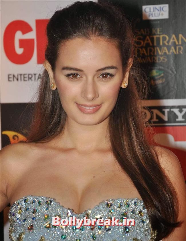 Evelyn Sharma, Evelyn, Raveena & Tv Babes at Sab Ke Satrangi Parivaar Awards 2014