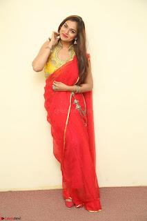 Actress Ashwini in Golden choli Red saree Spicy Pics ~  119.JPG