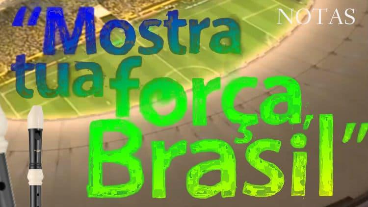 Mostra tua força, Brasil - Itaú - Cifra melódica