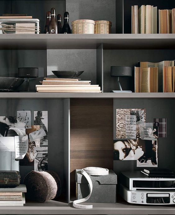 Bookshelves styling