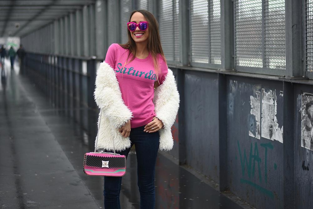 maglione fucsia
