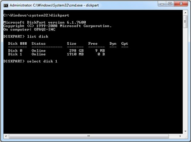 How To Make a Pendrive Bootable Using Command Prompt(CMD) 1