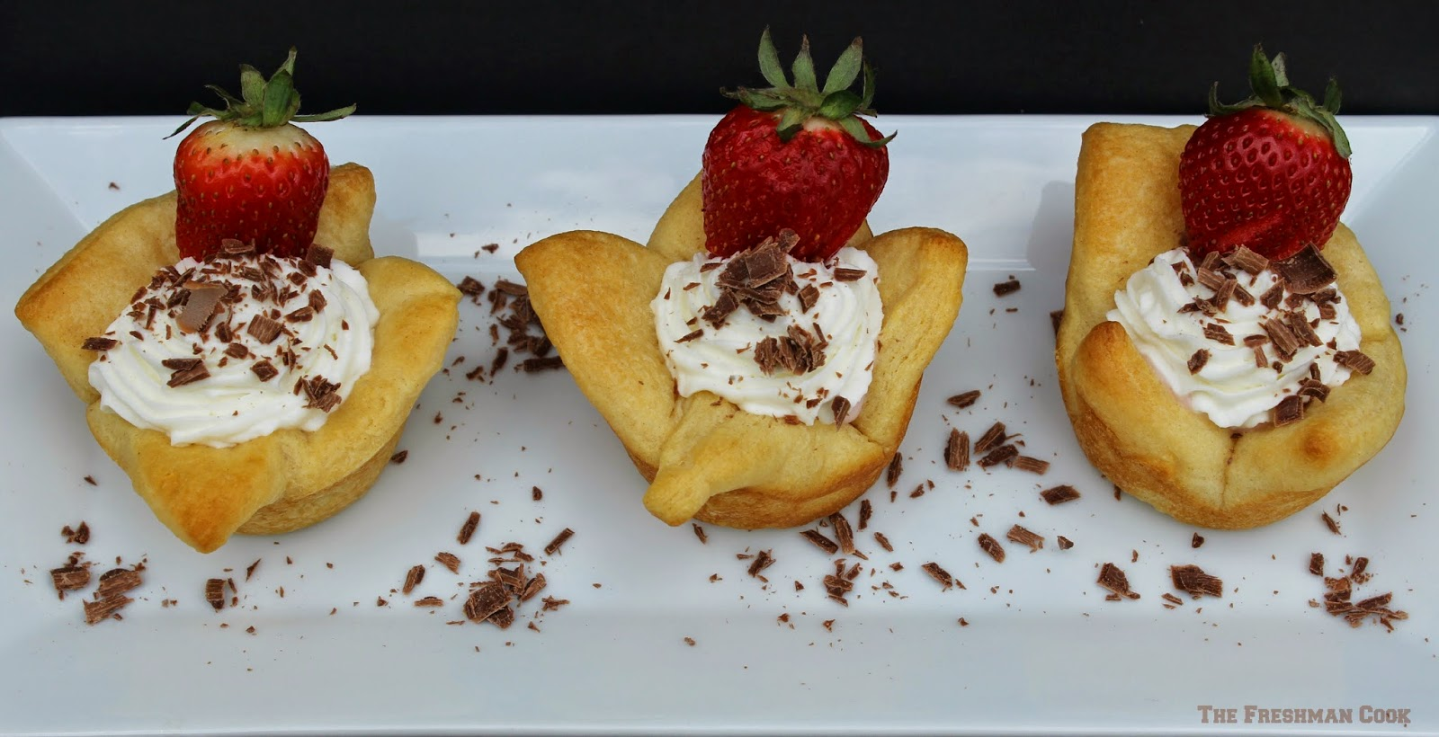 Biscuit Blossoms chocolate strawberries