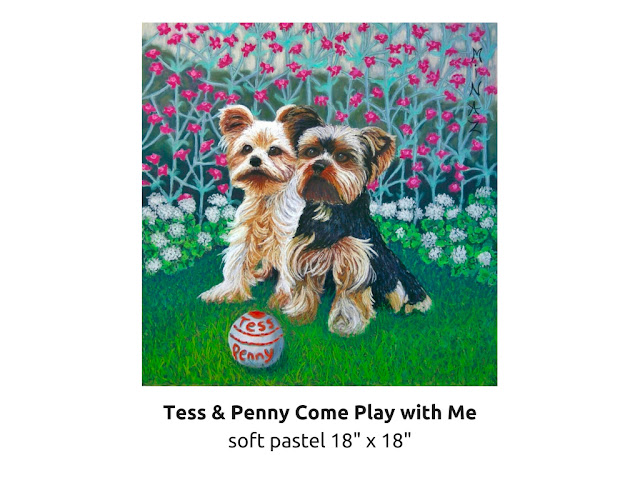 Pet Portraits: Tess & Penny Come Play with Me by Minaz Jantz