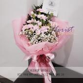 rangkaian bunga carnations