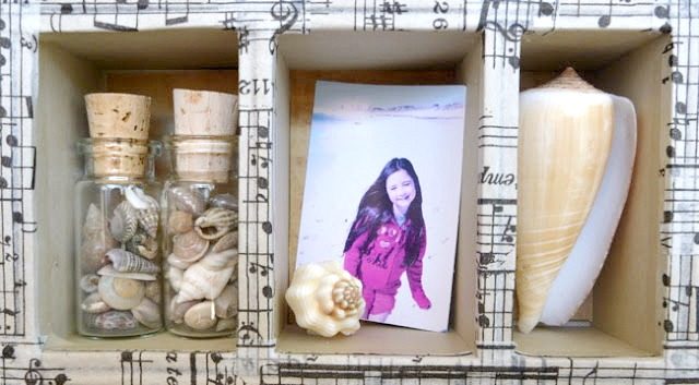 Tim Holtz Configurations Box with Beach Photos and Shells