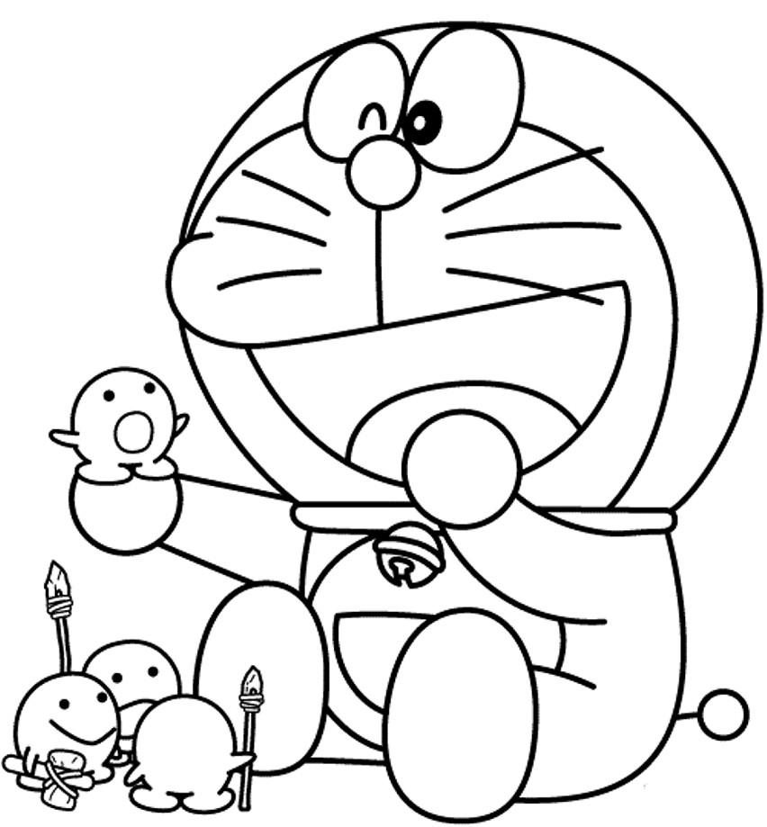 Gambar Mewarnai Kartun Doraemon