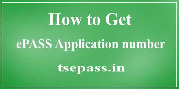 know your epass application number
