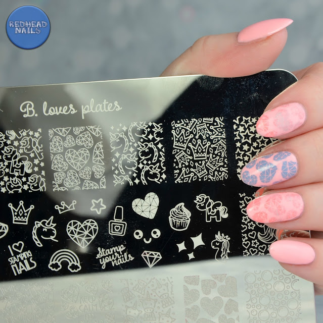 B.00 Rainbows and Unicorns stamping plate