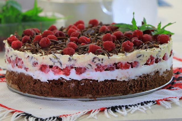 Čoko-malina-torta-recept