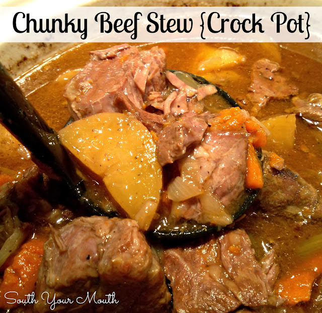 South Your Mouth: Chunky Beef Stew {Crock Pot}