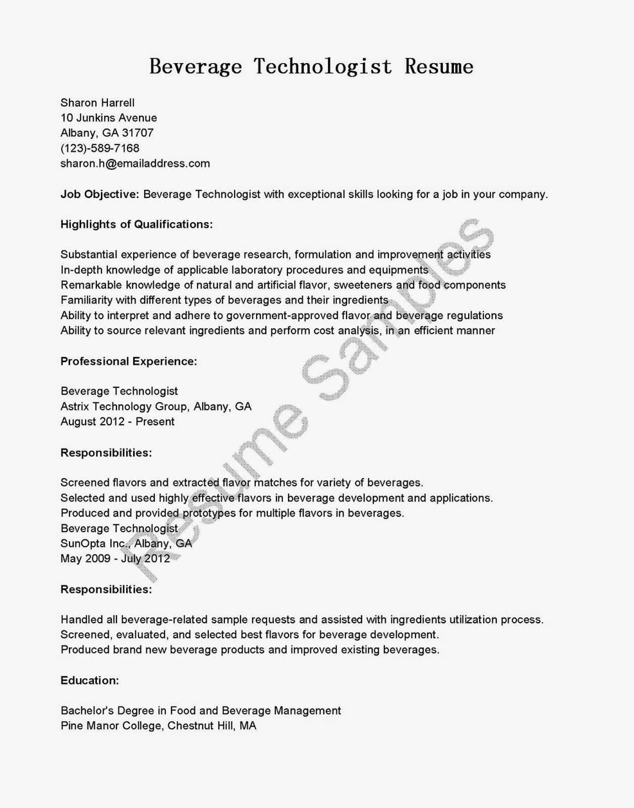 Food Technologist Resume Lab Technician Resume Samples Visualcv