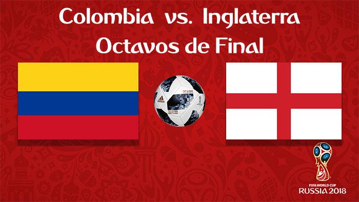 Colombia vs. Inglaterra - En Vivo - Online - Octavos de Final - Rusia 2018