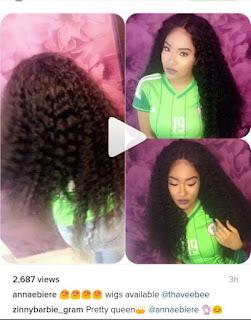 , Gossip! Ex Beauty Queen Anna Banner now sells Wigs, Latest Nigeria News, Daily Devotionals & Celebrity Gossips - Chidispalace
