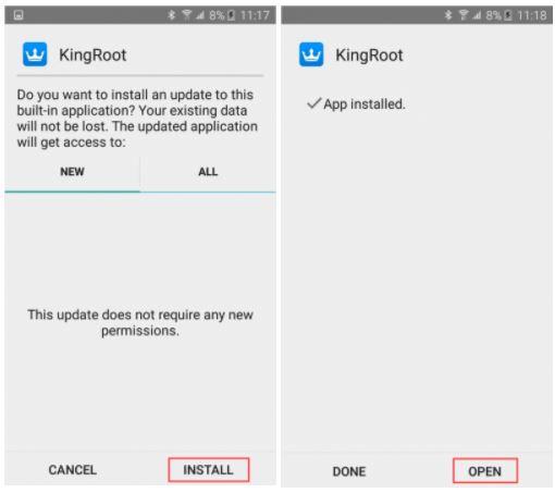Install KingRoot App Root