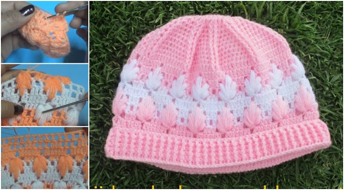 How to make crochet hat for baby step by step