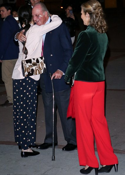 King Juan Carlos, Infanta Elena, Victoria Federica de Marichalar and Felipe Juan Froilan de Marichalar