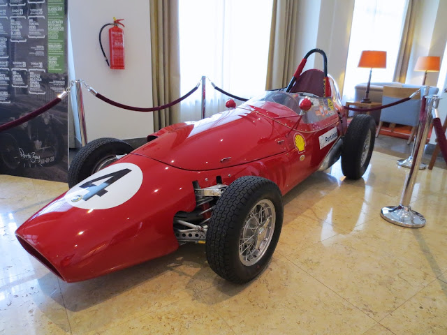 1959 Stanguellini fast car inside the Residence hotel