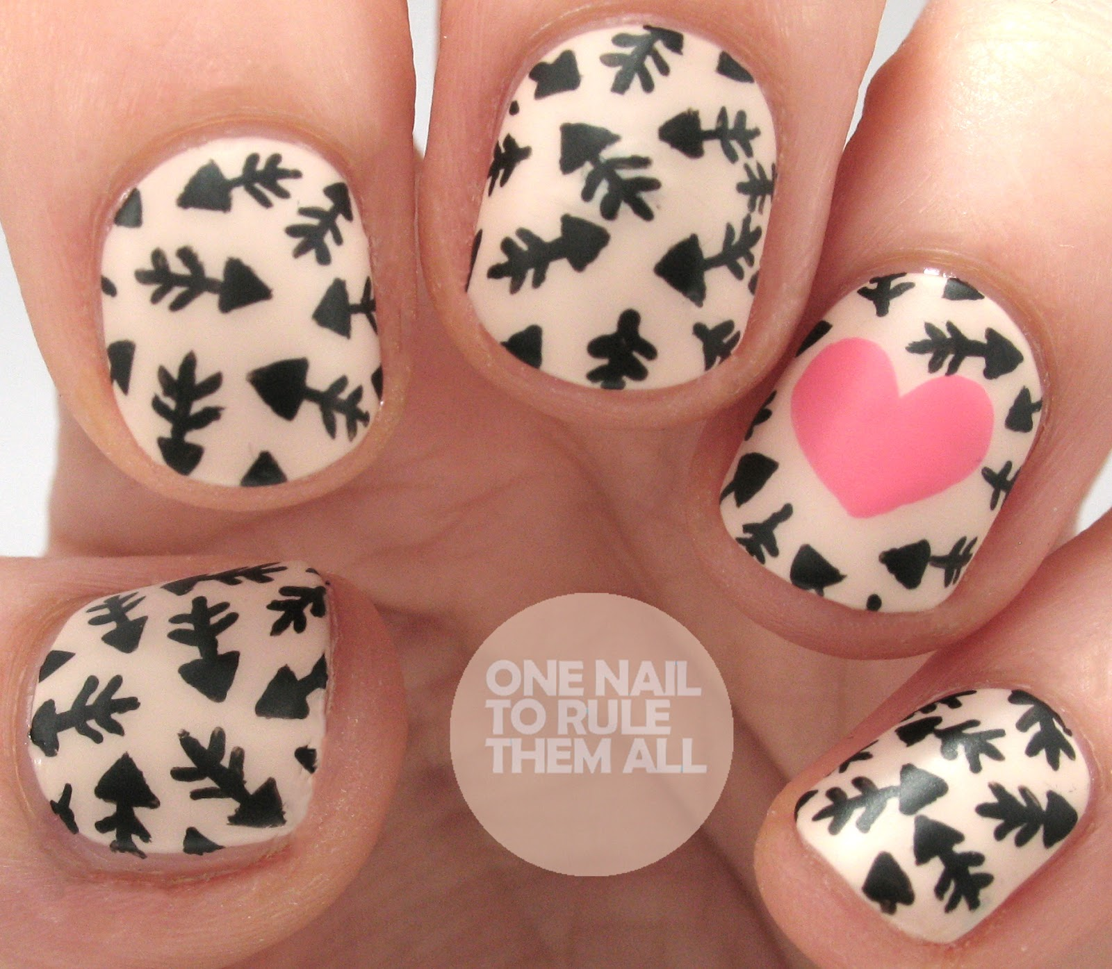 One Nail To Rule Them All Nail Art Threesome Polly Polish