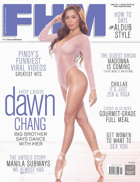 PBB's DAWN CHANG on the cover of FHM's February 2016 issue